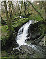 SN3657 : Falls on Afon Soden by Dave Croker