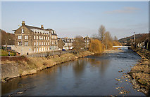 NT5015 : The River Teviot in Hawick by Walter Baxter