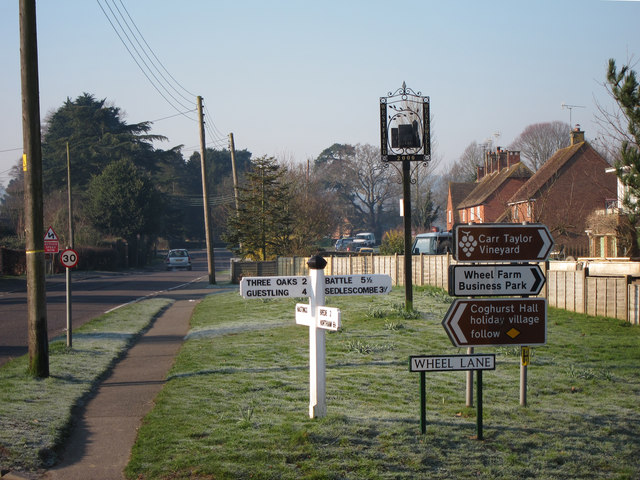Signs at Wheel Lane junction