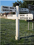TQ8115 : Finger post sign at Wheel Lane by Oast House Archive