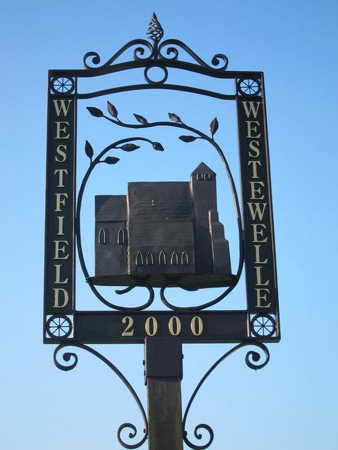Westfield village sign