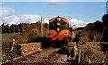 S6814 : Railway and train at Kilmokea near Waterford by Albert Bridge