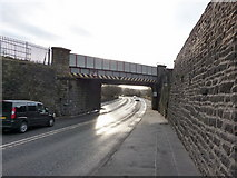 SD7328 : Railway bridge over Blackburn Road, Church by Alexander P Kapp