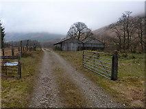 NN2216 : Sheepshed near Inverchorachan by Richard Law