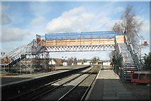 SP1955 : Temporary footbridge, Stratford railway station by Robin Stott