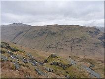 NN2219 : Across Glen Fyne towards Trosgiche and Meall an Fhudair by Richard Law