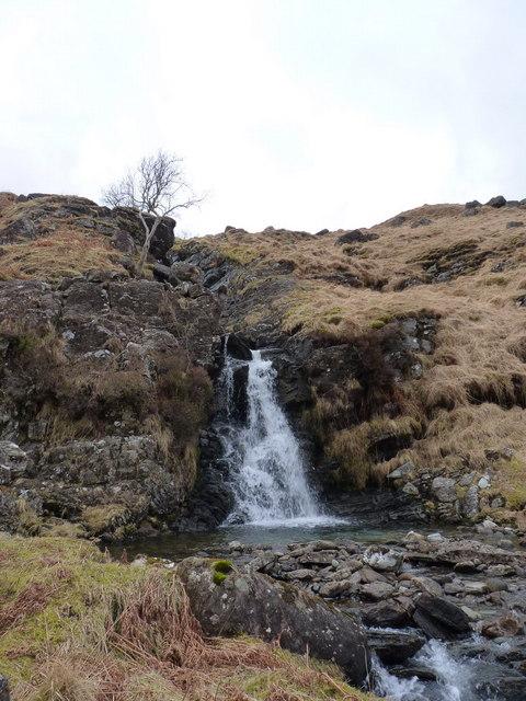 Waterfall on the Allt a' Mhuilinn