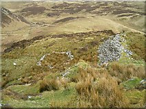NM8503 : Structures on the slopes of Dun Chonallaich by Patrick Mackie