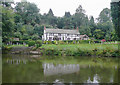 SO8163 : Large riverside house near Holt Heath, Worcestershire by Roger  Kidd