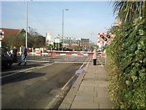 TQ1875 : Manor Road Level Crossing, North Sheen by Marathon