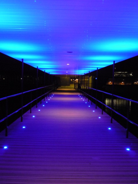 Central Hall bridge at night