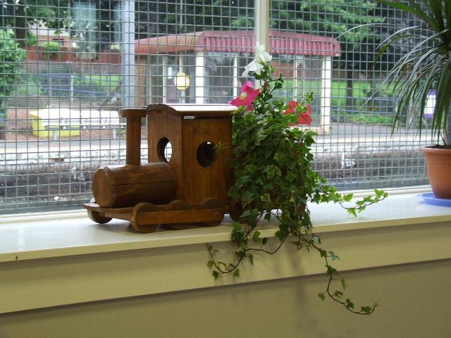 Loco themed plant holder