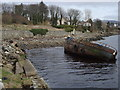 C3431 : Wrecked boat at Buncrana Harbour by louise price