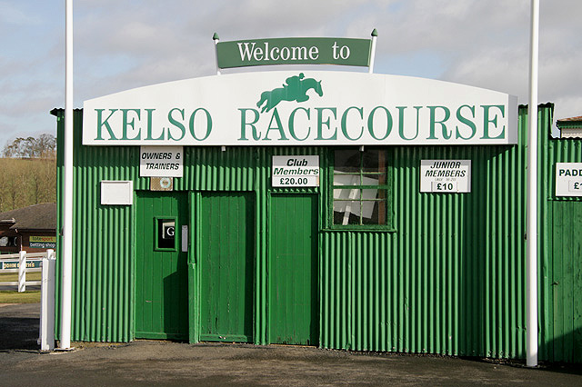 The entrance to Kelso Racecourse