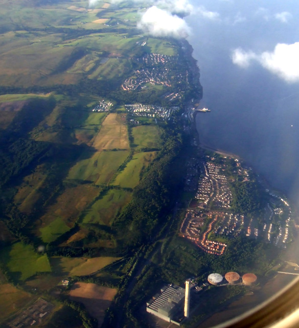 Inverkip power station from the air