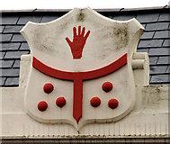 J2664 : Architectural shield, Lisburn by Albert Bridge