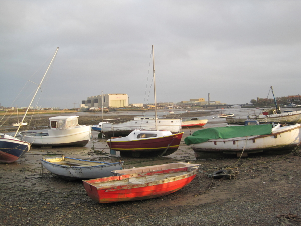 Boats and Walney Channel, North Scale, Walney Island