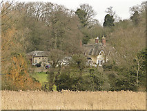 TG2105 : Harford Hills Cottage from Marston Marshes by Adrian S Pye