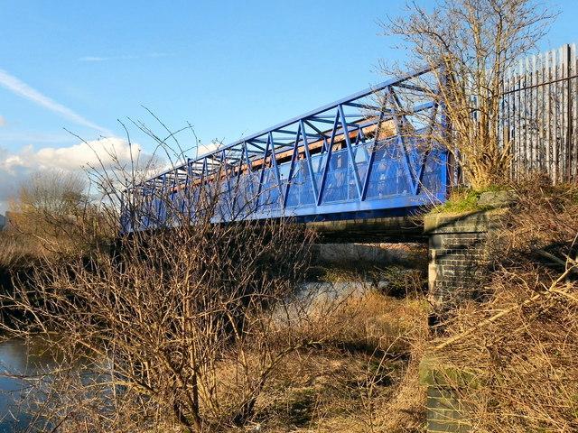 Bridgewater Canal; Footbridge at Trafford Park
