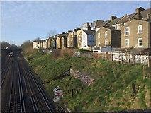 TQ2775 : Houses overlooking railway, Clapham Junction by Derek Harper