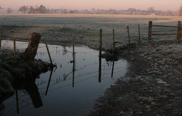 Water meadows near Limbourne Mill