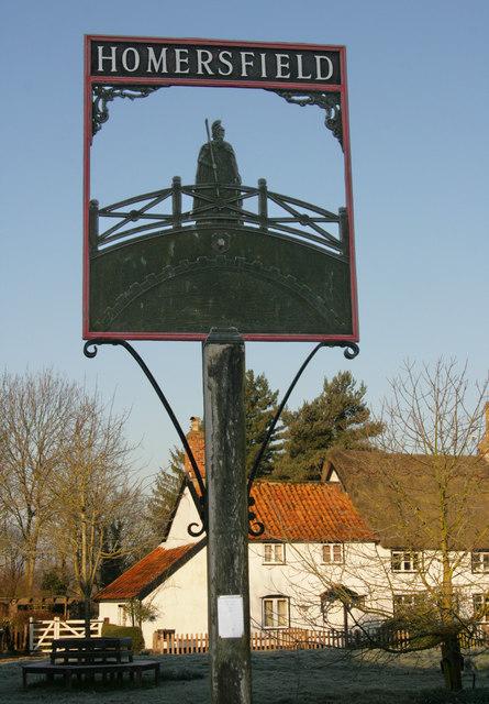 Homersfield - village sign