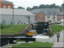 SO8453 : Diglis Top Lock in Worcester by Roger  Kidd