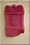 SJ5608 : Wroxeter Roman City (17) - Plaque of Sol on the replica Villa Urbana by P L Chadwick