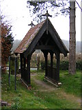 TM3669 : Lych Gate of St Peter's Church, Sibton by Geographer