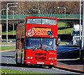 J3874 : Tourist bus, Belfast by Albert Bridge