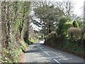 SX9895 : Station Road passing Wishford Farm by David Smith