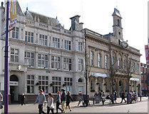 SK5319 : Loughborough - HSBC Bank and Town Hall by Dave Bevis