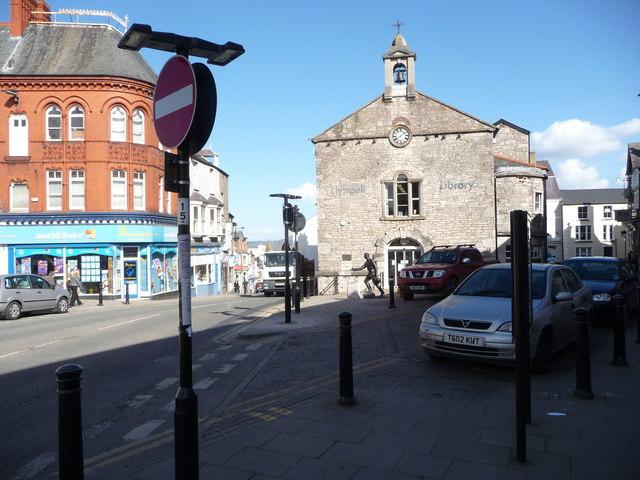 Part of the town centre, Denbigh
