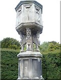 NT3366 : 17thC sundial pillar, Newbattle Abbey by kim traynor