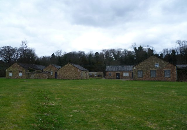 Old army camp at Newbattle