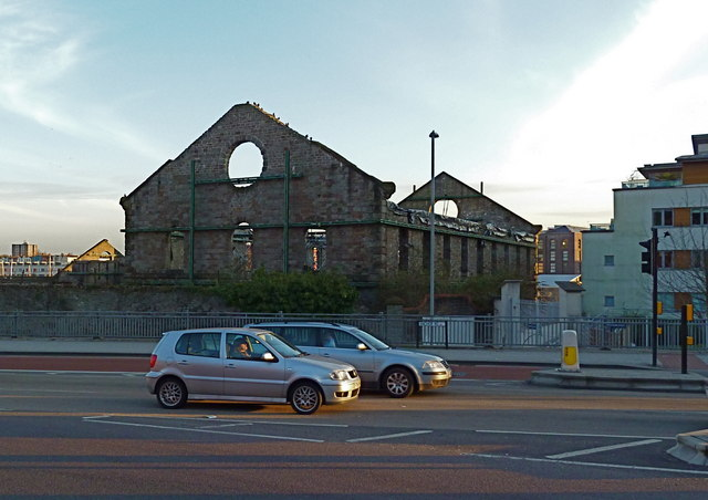 empty shell of the old gas works on     u00a9 anthony o u0026 39 neil