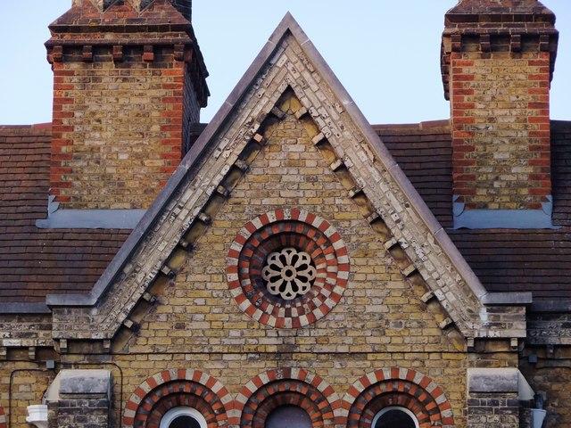 The Church Estate Almshouses, Sheen Road, Richmond: architectural detail