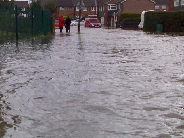 Flood in Ashbourne Way