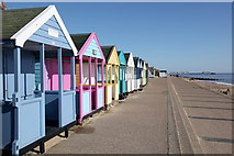 TM5075 : Beach Huts, Southwold by Rob Noble