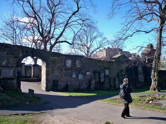 The Flodden Wall and Edinburgh Castle