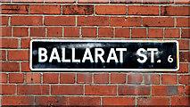 J3573 : Ballarat Street sign, Belfast by Albert Bridge