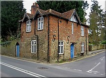 SU9948 : Old house on corner of Portsmouth Road  and Sandy Lane, St. Catherine's, Guildford by P L Chadwick