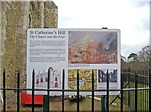 SU9948 : Information board on St. Catherine's Hill, Guildford by P L Chadwick