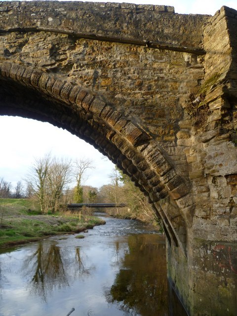 Section of the Maiden Bridge, Newbattle