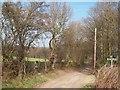 SE2704 : Footpath Crossroads near High Field Plantation by Jonathan Clitheroe
