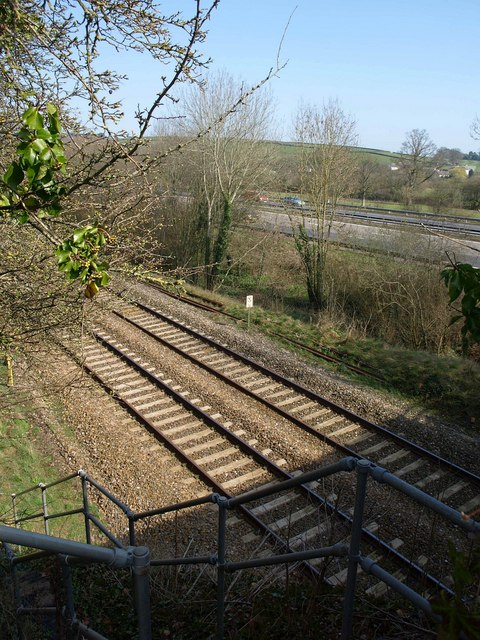 Railway and motorway, Westcott