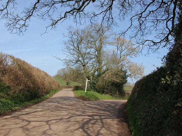 Lane junction near Mutterton