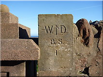 NT6779 : East Lothian Townscape : War Department Marker Stone, Bayswell Road, Dunbar by Richard West