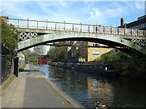 TQ2883 : Bridge and narrow boats by David Smith
