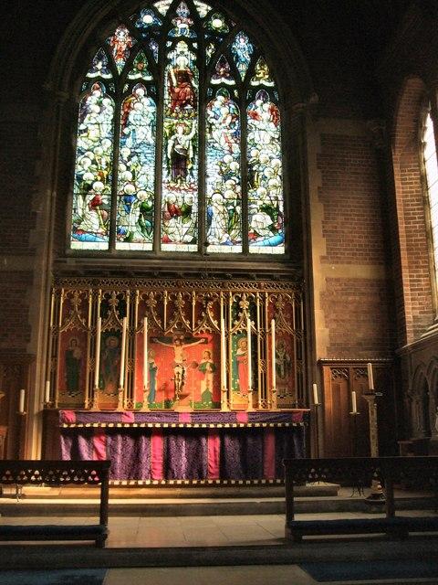 St Barnabas church, altar & window